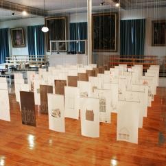 Installation Repaire/repères Musée des Ursulines 2015